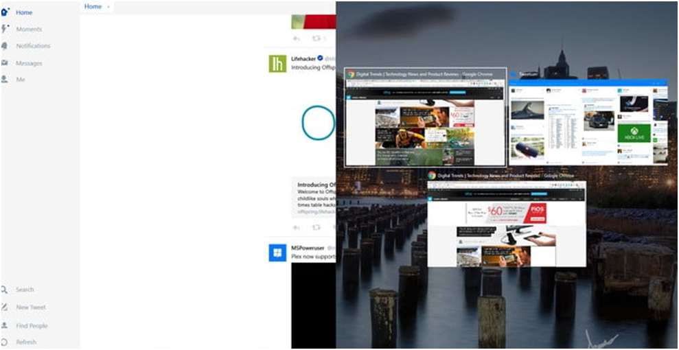 Splitting of Windows 10 screen