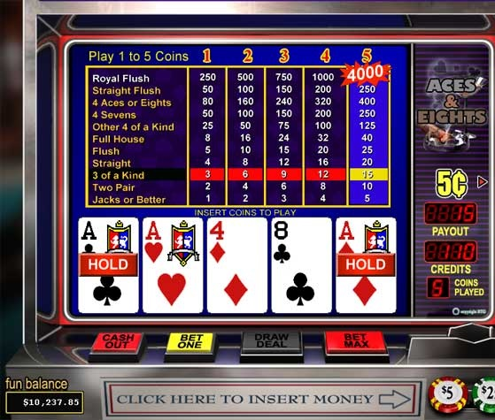 Pennsylvania Video Poker Game with Parx Casino