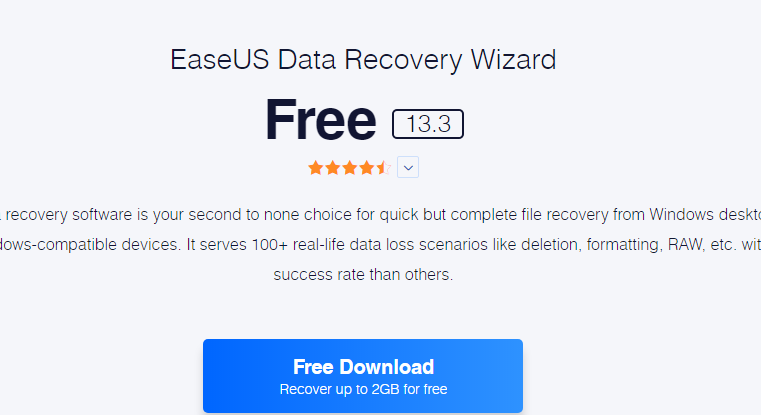 Which Software Can Help To Recover My Data Back? EaseUS Great One
