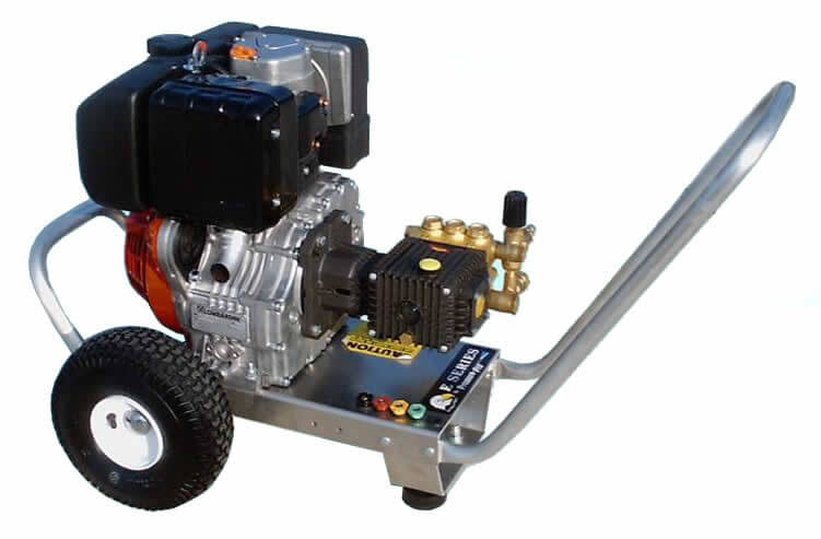 Our hot water pressure washers are diesel-fired