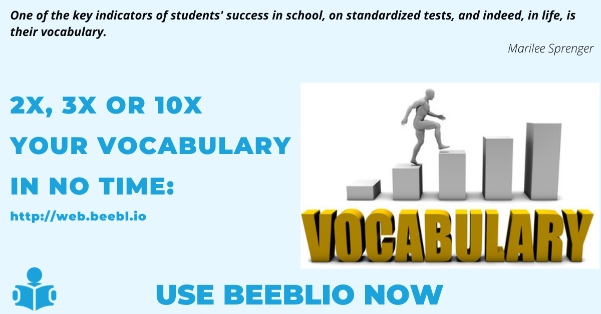 Learn words 2x quicker with the Beeblio application