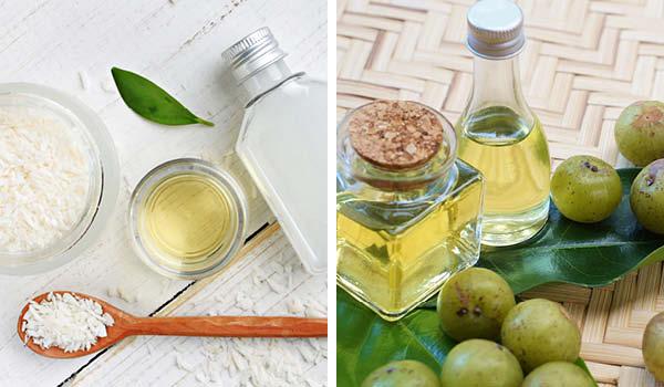 Natural oils to repair dry hair