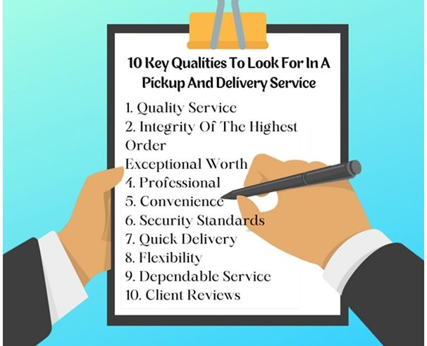Compelling Qualities of A Great Delivery Pick Up Service